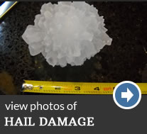 hail damage photos